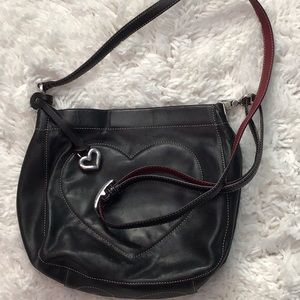 Brighton Black Crosby purse with heart